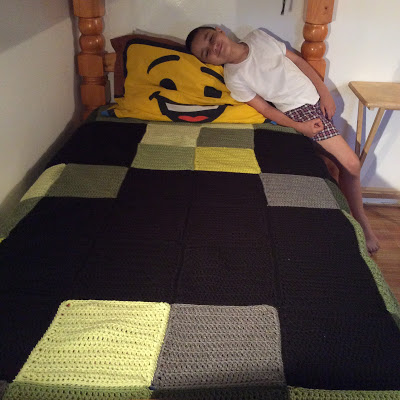 Crochet Minecraft Creeper Blanket Tutorial