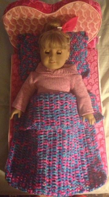 American Girl Doll Crochet Pillow & Blanket