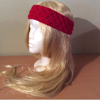 Crochet Cross Stitch Headband