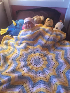 Crochet Round Ripple Baby Blanket Tutorial