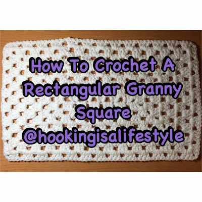 Crochet Rectangle Granny Square Tutorial