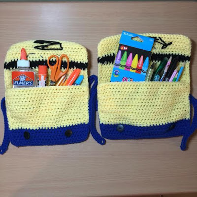 Crochet Minion Pencil Case Tutorial - hookingisalifestyle