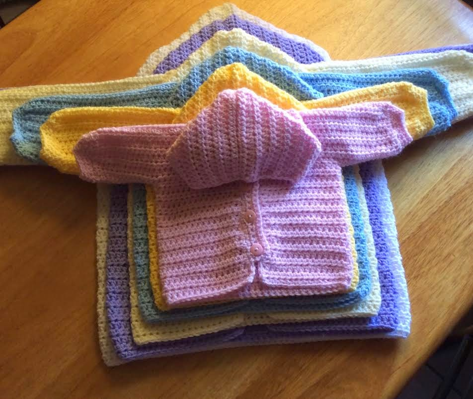 2ba0e7c59d78 Crochet Three Way Baby Sweater - hookingisalifestyle