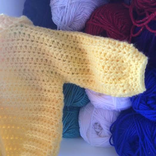 crochet Three Way Baby Sweater