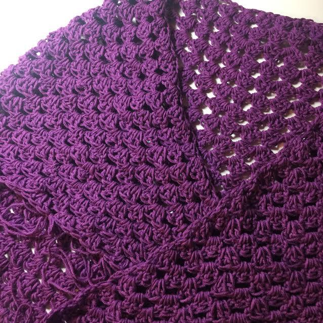 Crochet Triangular Shawl Wrap