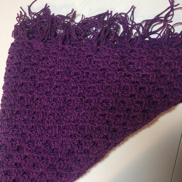 Crochet Triangular Shawl Wrap
