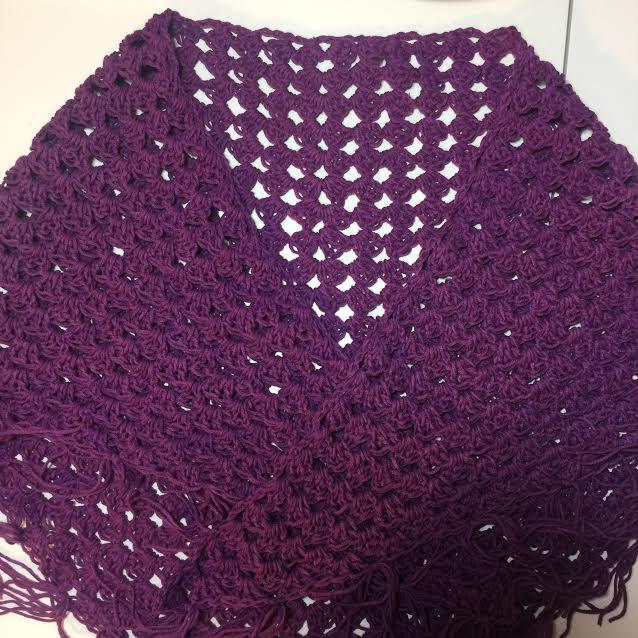 Crochet Triangular Shawl Wrap - hookingisalifestyle
