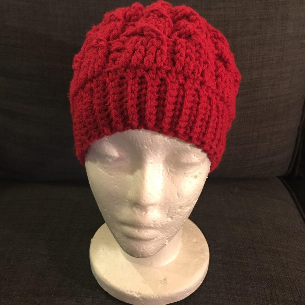 How To Crochet Cabled Beanie Messy Bun Hat Tutorial ... c715e9e129b