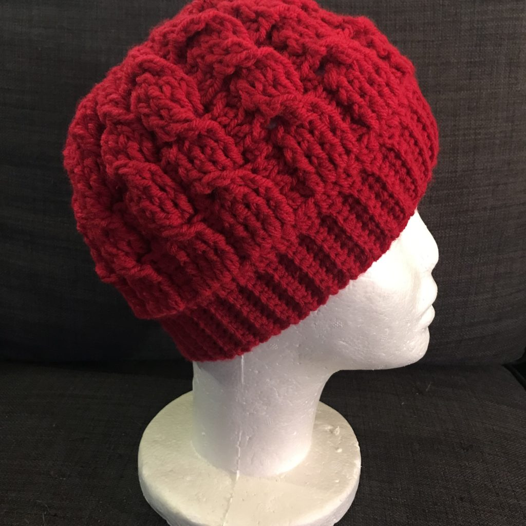 How To Crochet Cabled Beanie Messy Bun Hat Tutorial ... aef3e2e9bf5